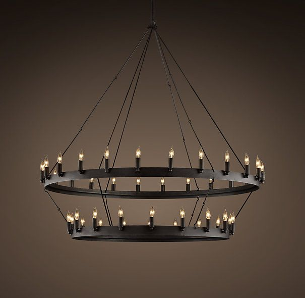 Camino Two Tier Chandelier From Restoration Hardware For My Cathedral Ceiling Great Room