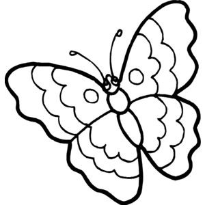 Butterfly outline spring. Clipart polyvore a la