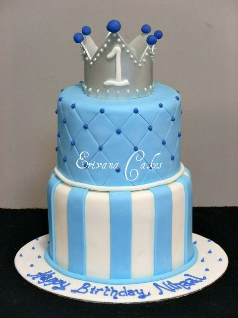 Prince Crown Cake 1st Birthday Themes Cakes Boy First King