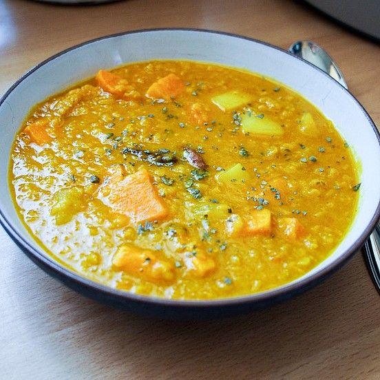 Süßkartoffel-Linsen-Suppe mit Kokosmilch von mellowmood | Chefkoch