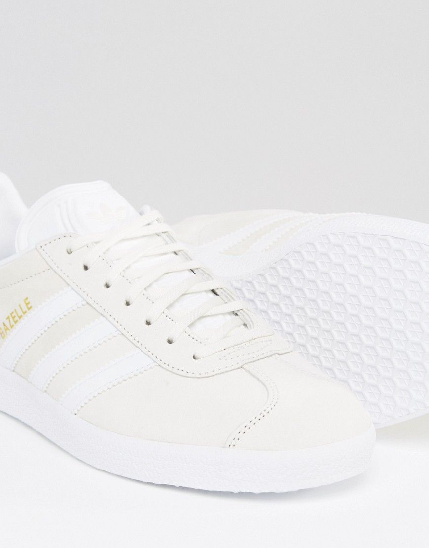 Image 3 of adidas Originals Gazelle Trainers In White BB5475