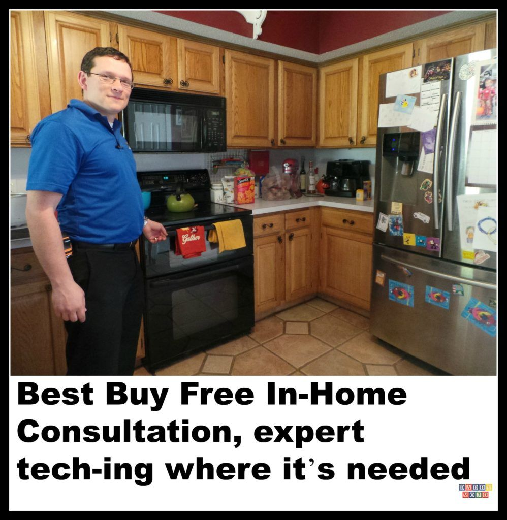 We scheduled Best Buy for a free In-Home Consultation. It was a tech expert advising us on how to make our home more efficient and modern.