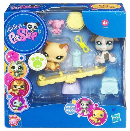 Amazon Com Littlest Pet Shop Seesaw With 2037 Dog And 2038