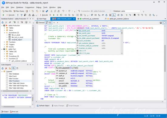 devart dbforge studio for sql server