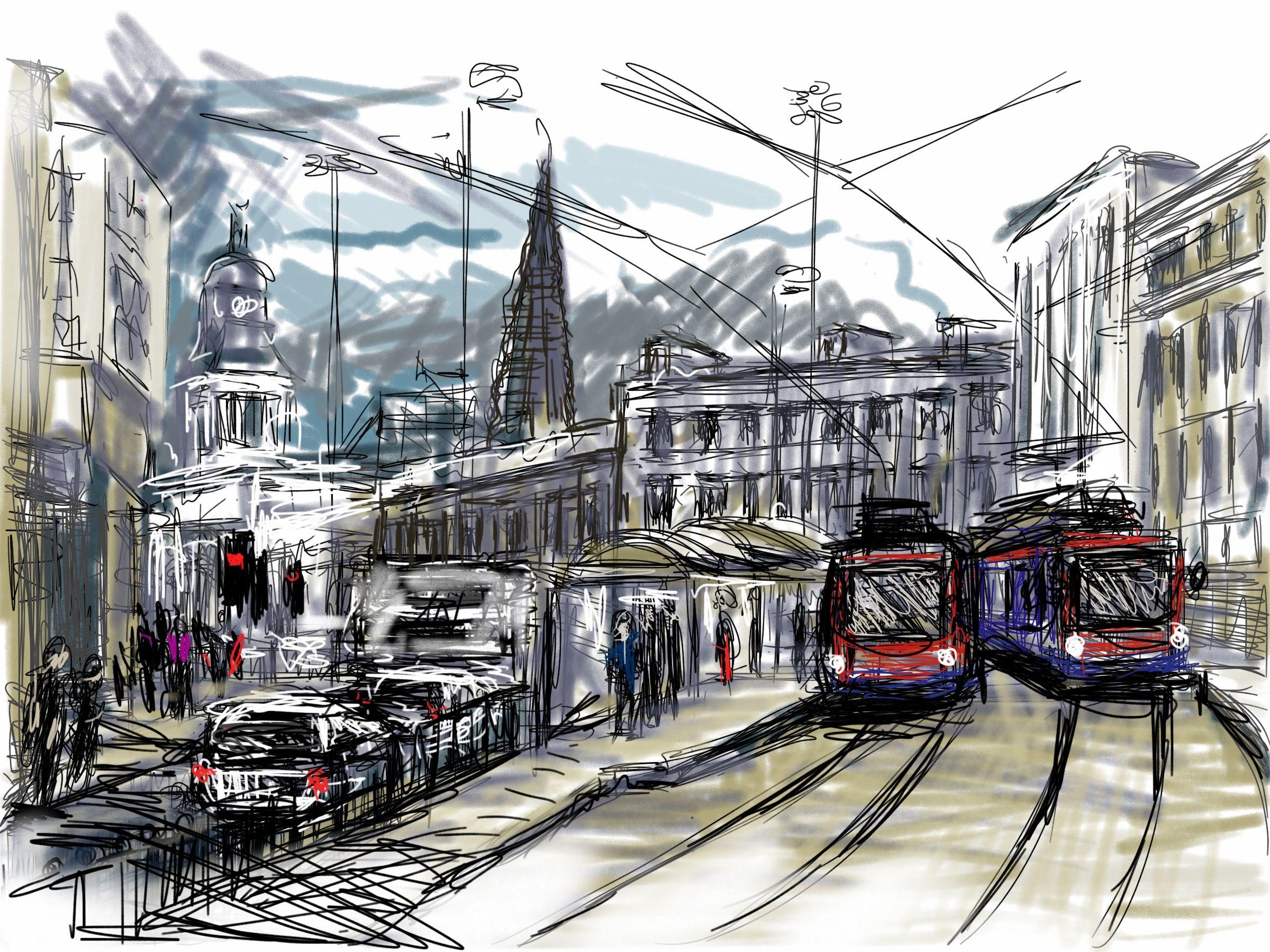 Craig Longmuir Tram Stop At Ponds Forge Ipad Drawing Iart Electrical App