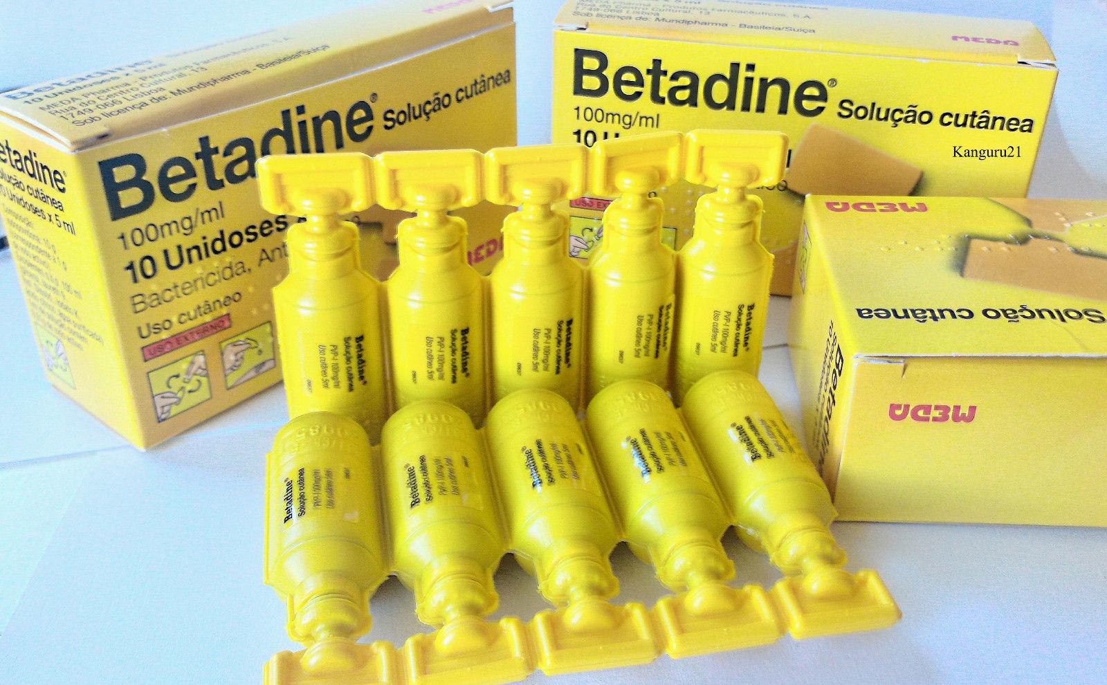 Pods Betadine 5ml Cc First Aid Skin Cleanser Antiseptic Solution 5 Ml 295 Povidone Iodine Ebay