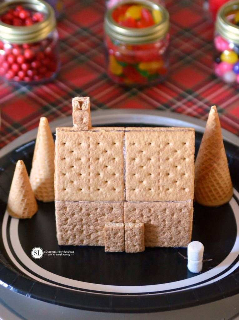 Gingerbread House Decorating Party Graham cracker