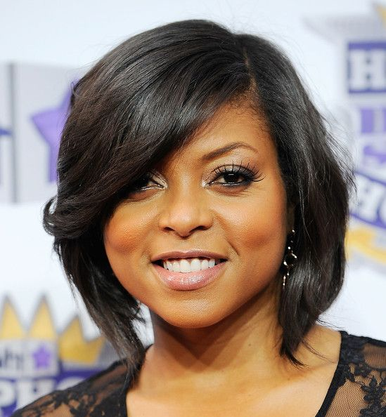 Fashion style Henson p Taraji bob hairstyles for lady