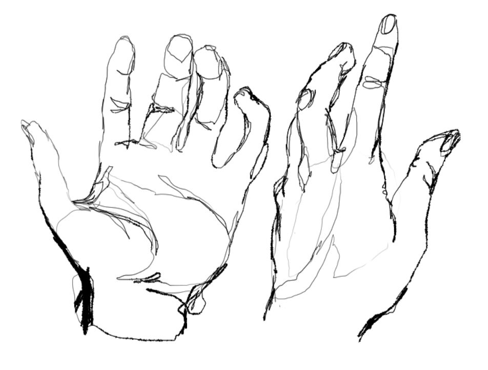 line drawing hand - Google Search | embroidery | Pinterest ...