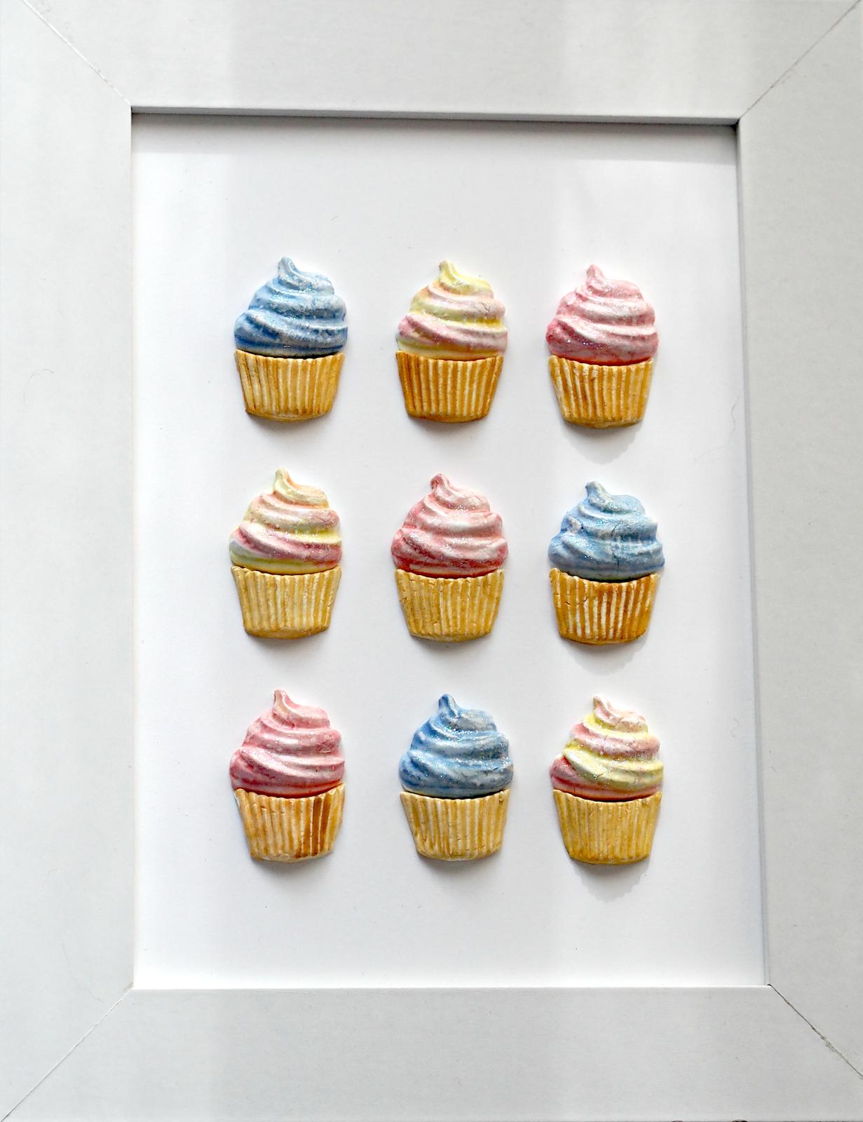Rosarot&Blaugrün: Cupcakes im Bilderrahmen