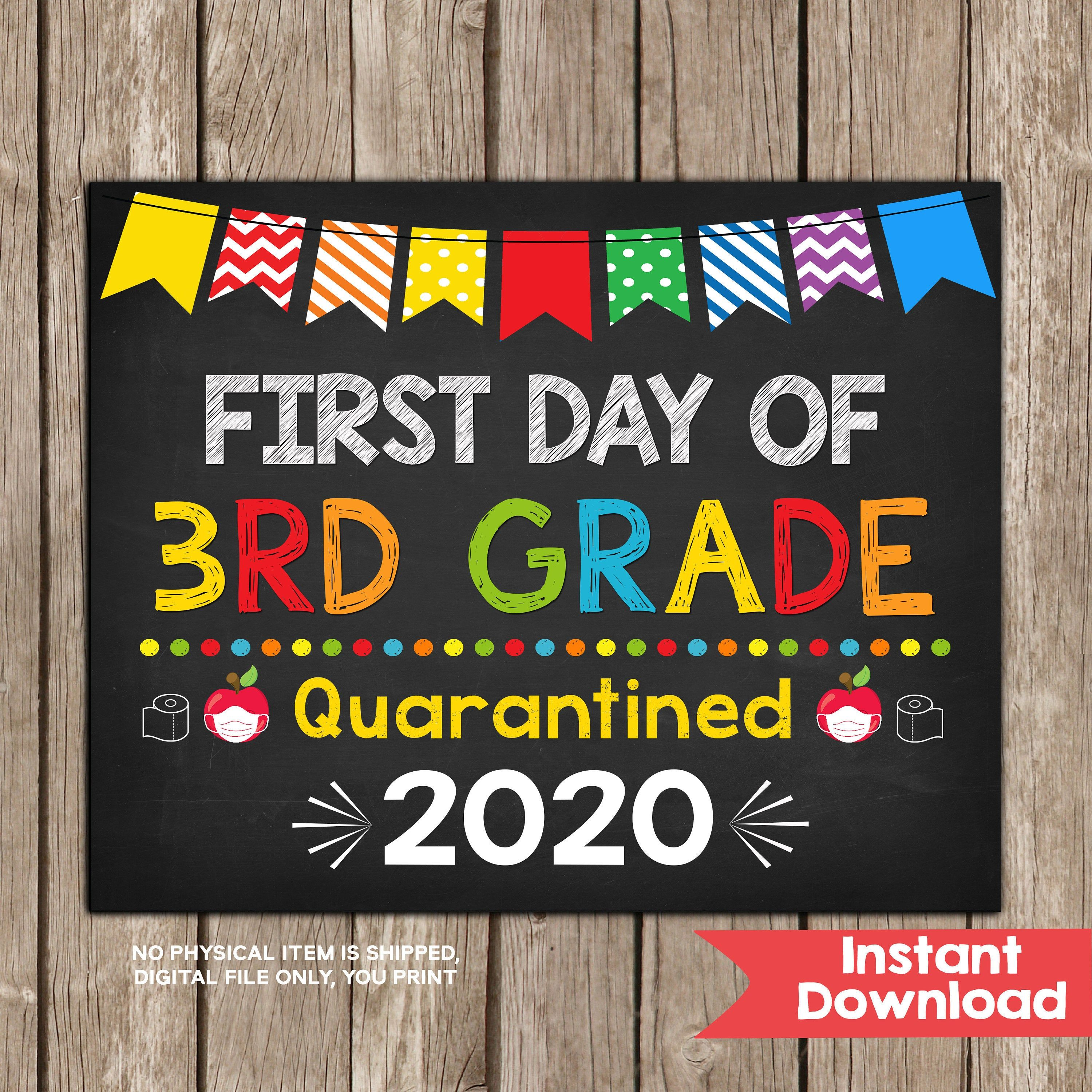 Any Grade Sign Kindergarten Photo Prop Boys First Day of School Printable Chalkboard Sign 1st day of 3rd grade Dinosaur School Sign