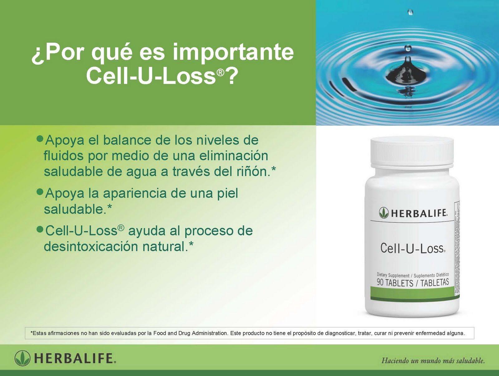Cell-U-Loss es un limpiador biológico de las articulaciones.  Ayuda a la eliminación de exceso de líquido (celulitis) y mejora el aspecto de la piel. El incremento de líquido en el organismo produce la acumulación de toxinas en el cuerpo provocando la aparición de pozos y la hinchazón de la piel (retención de líquido).