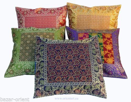 5 stueck 40x40 cm orientalische broka kissenbezuege sitzkissen kissen pillowcase deko. Black Bedroom Furniture Sets. Home Design Ideas