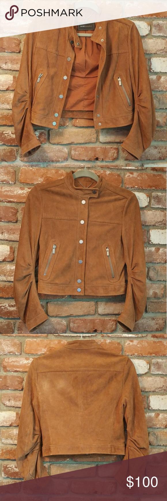 Leather jacket xs - Bcbgmaxazria Ginger Seude Leather Jacket Xs