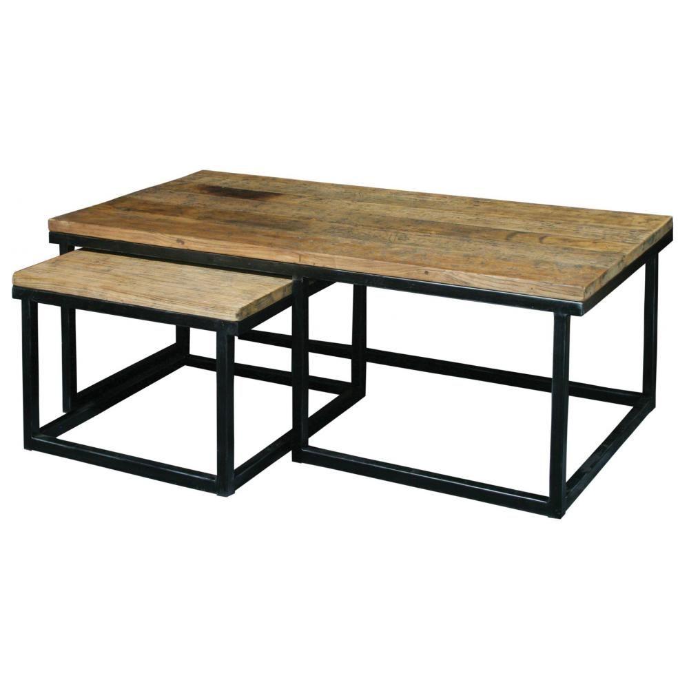 KM loft dohanyzoasztal asztal kisasztal ujrahasznositott fa ...