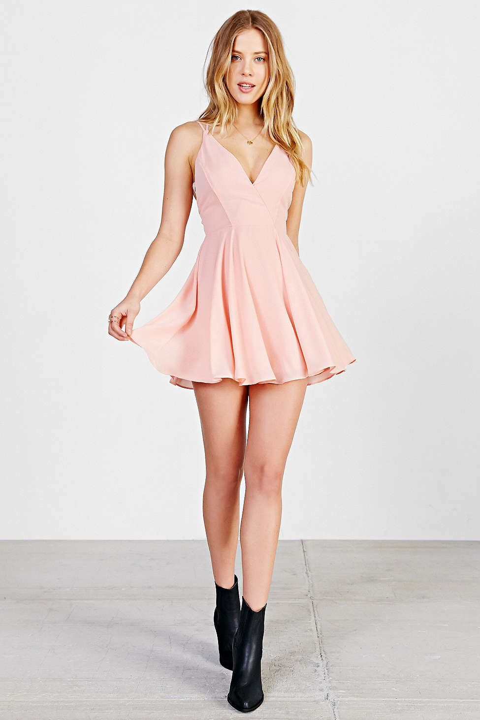 Sparkle & Fade Strappy Chiffon Skater Dress | Urban Dresses ...