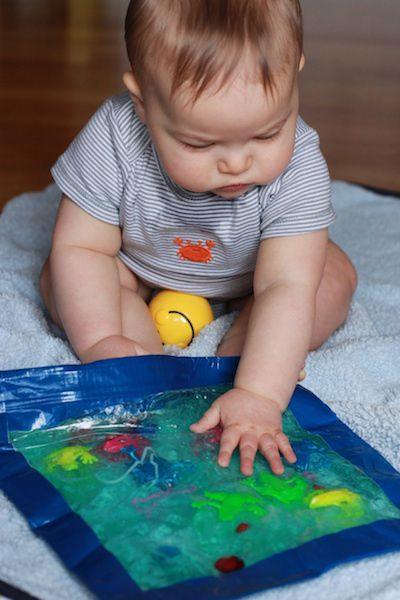 18 sensory play ideas for baby jello velcro and ribbon oh my