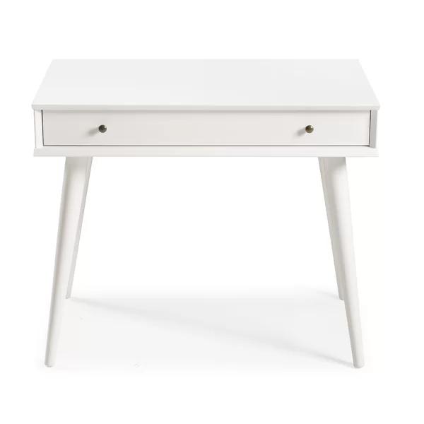 Grady Solid Wood Desk Solid Wood Desk White Desks Office Furniture Modern