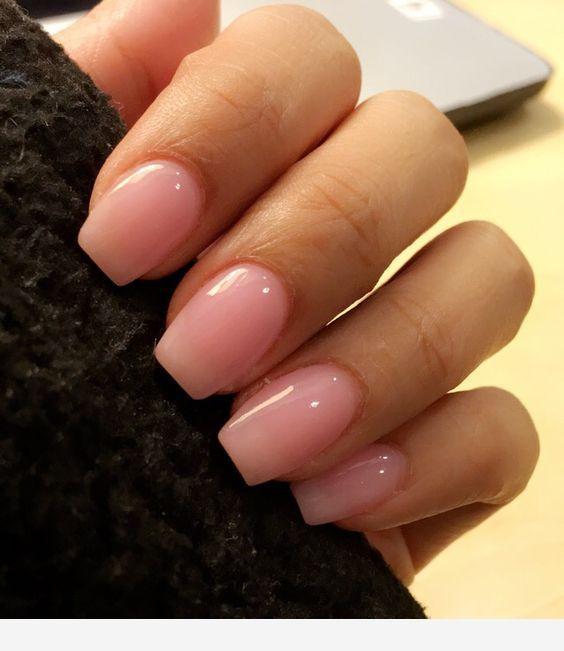 Pink Short Nails Idea For Summer Shellac Nail Designs Short Acrylic Nails Powder Nails