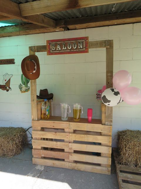 Wild West Sheriff Callie Party - Pallet Saloon #cowboysandcowgirls