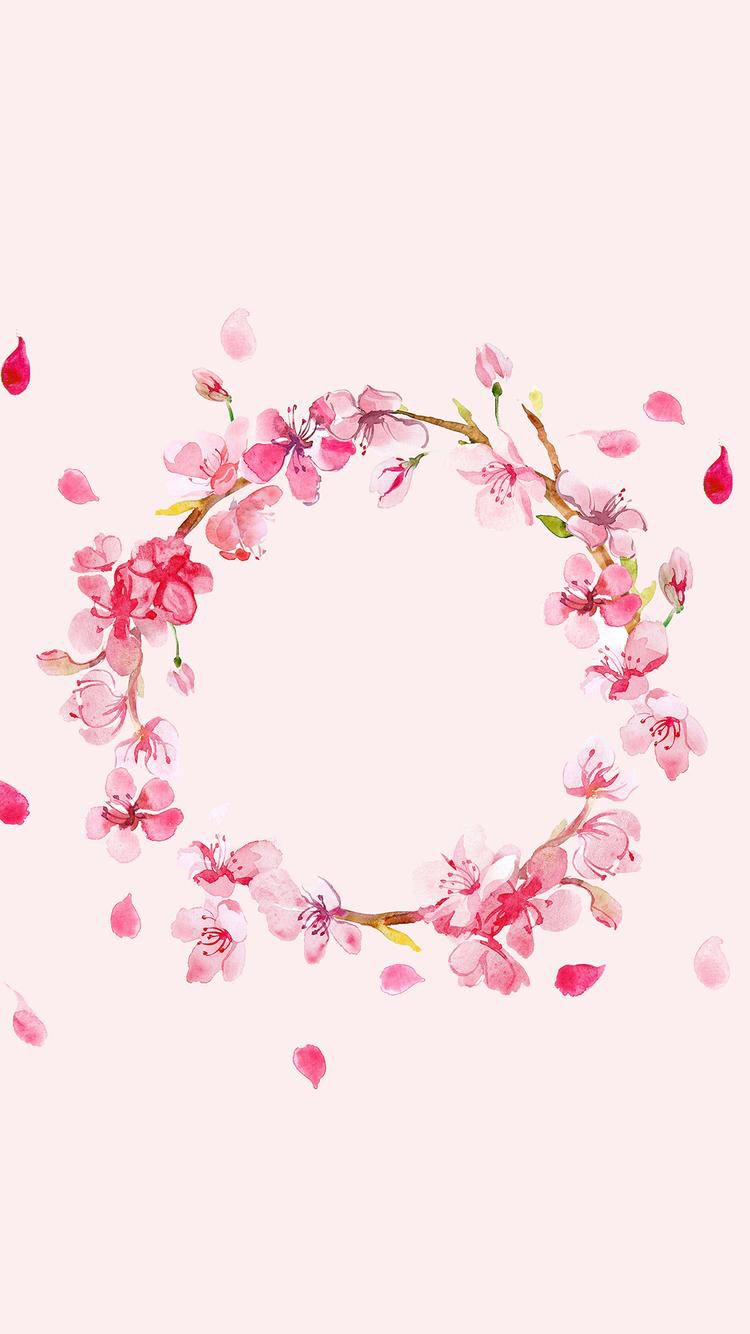 Watercolor Flower Crown Downloaded From Girly Wallpapers