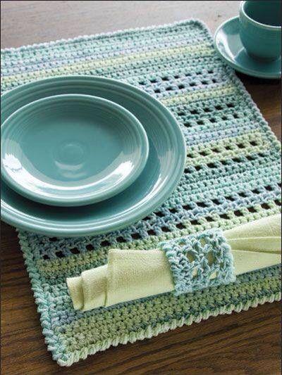 Placemat voorbeeld   Crochet et tricot   Pinterest   Körbchen häkeln ...