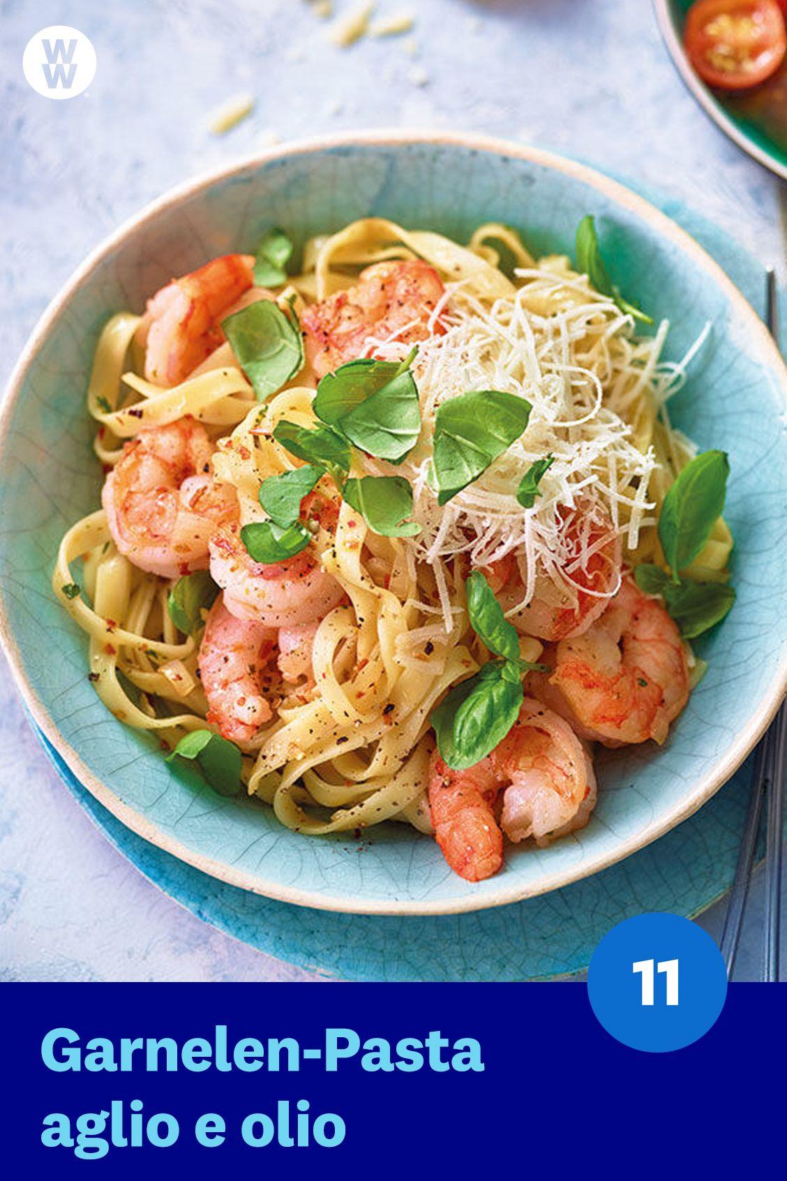 Garnelen-Pasta aglio e olio