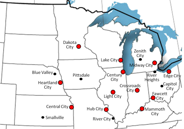 Fbi Midwest Dc Comics Cities Map X | geeking out | Map, Dc comics ...