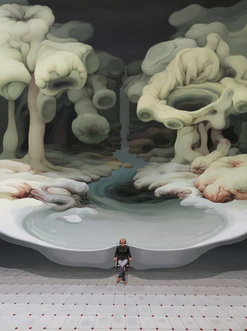 These are great! paintings by Jung-Yeo Min, they explore the infinite possibilities of the human mind