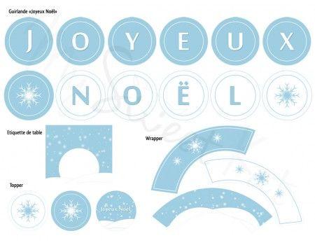 Pour une sweet table de Noël sur le thème des flocons de neige. #sweettable #noel
