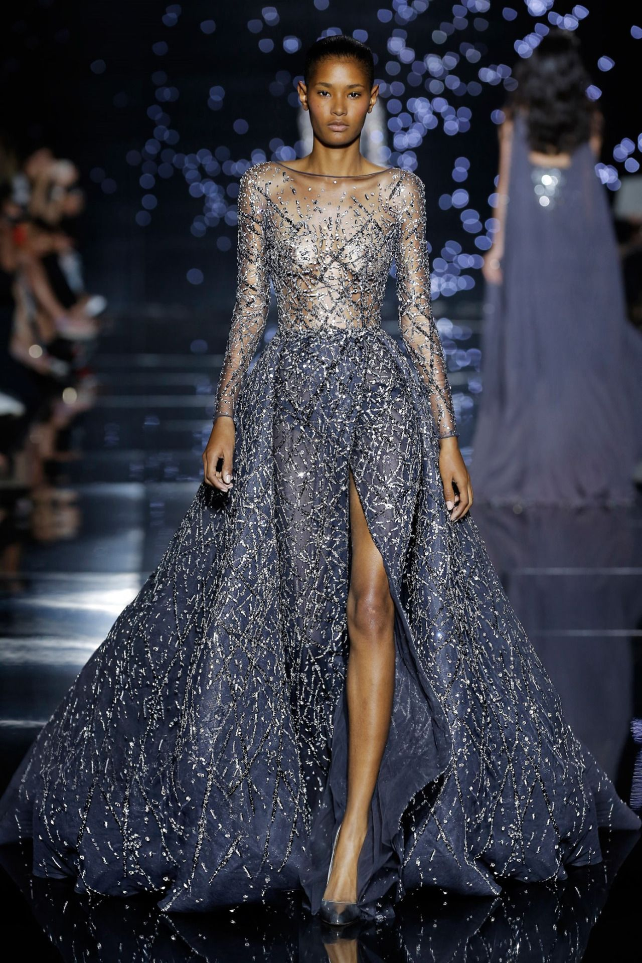 Blue dress zuhair murad design