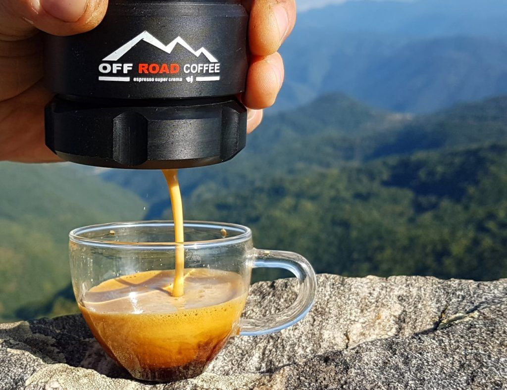 Make coffee wherever you like with the Offroad Coffee Portable Magnetic Espresso Maker, which you can use at home and outdoors. #espressomaker