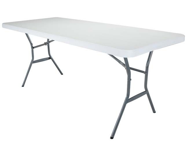Lifetime 25011 Fold In Half 5 Ft Table On Sale With Free Shipping 80388 Lifetime Tables Fold In Half Table Half Table