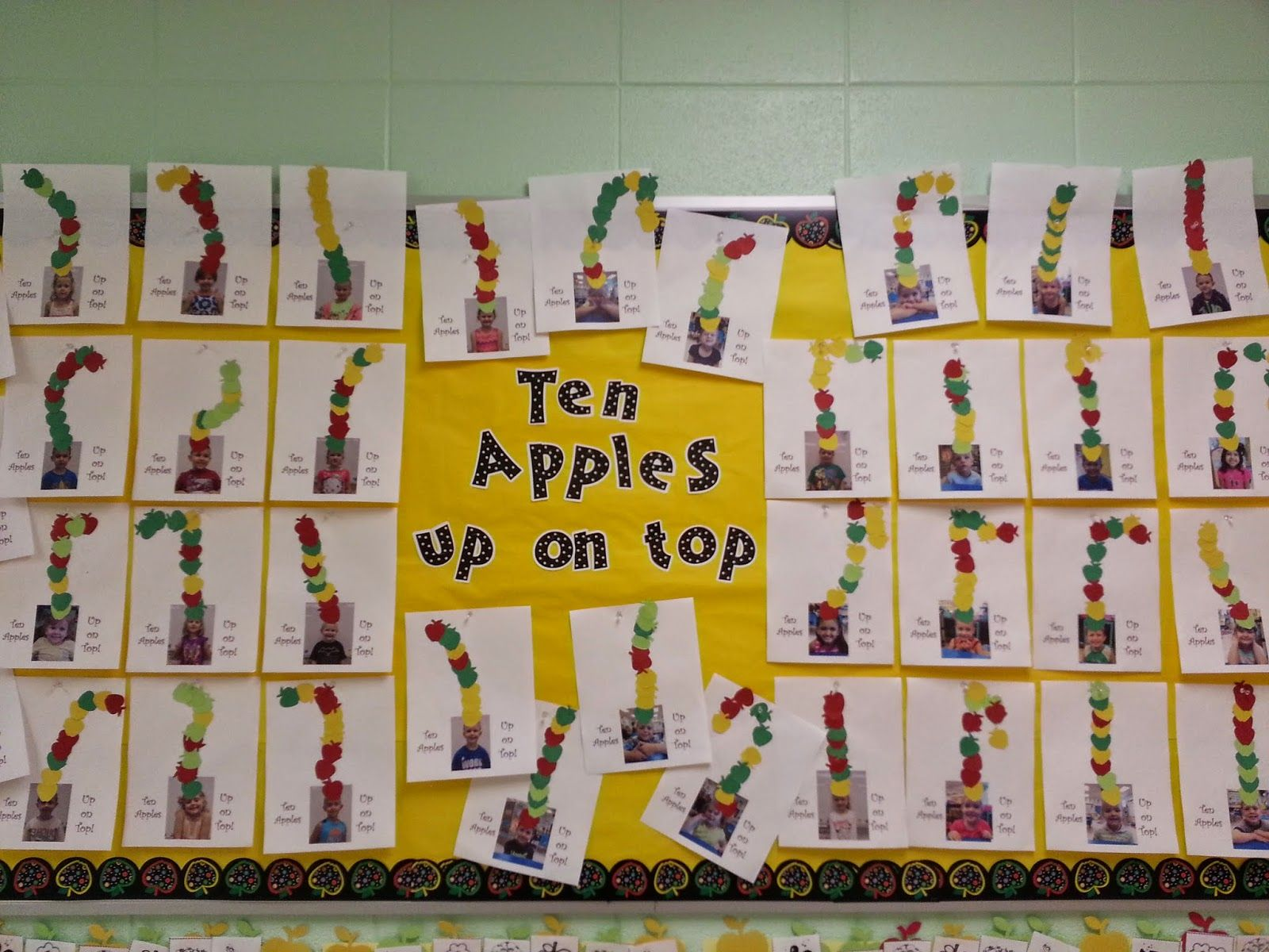 Ten Apples Up On Top Activity Counting Apple Theme Bulletin Board Mrs Christy S Classroom