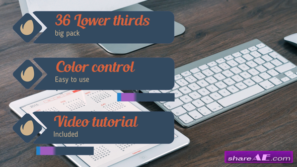 Videohive 36 Lower Thirds Pack - After Effects Project