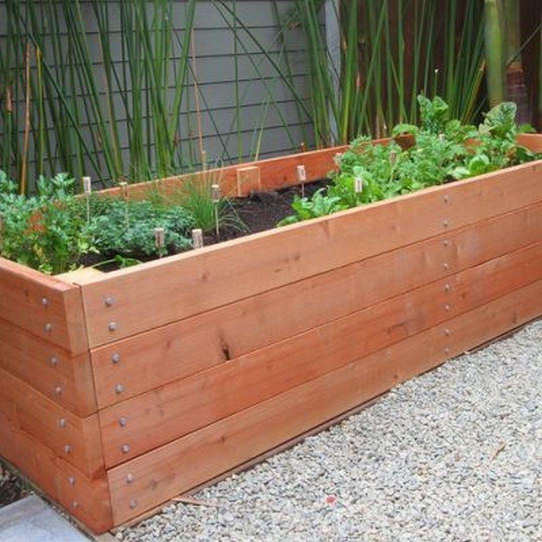 DIY Rustic Wood Planter Box Ideas For Your Amazing Garden