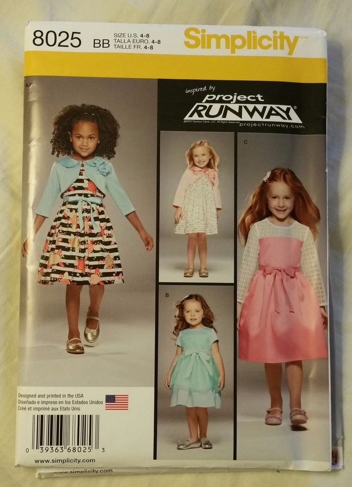 7 8   Sewing Pattern 5 Simplicity 1209 Girls/'  Fancy Knit Dresses 3 4 6