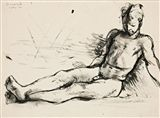 Donald Friend - STUDY OF COLIN, 1946, ink, wash on... on MutualArt.com