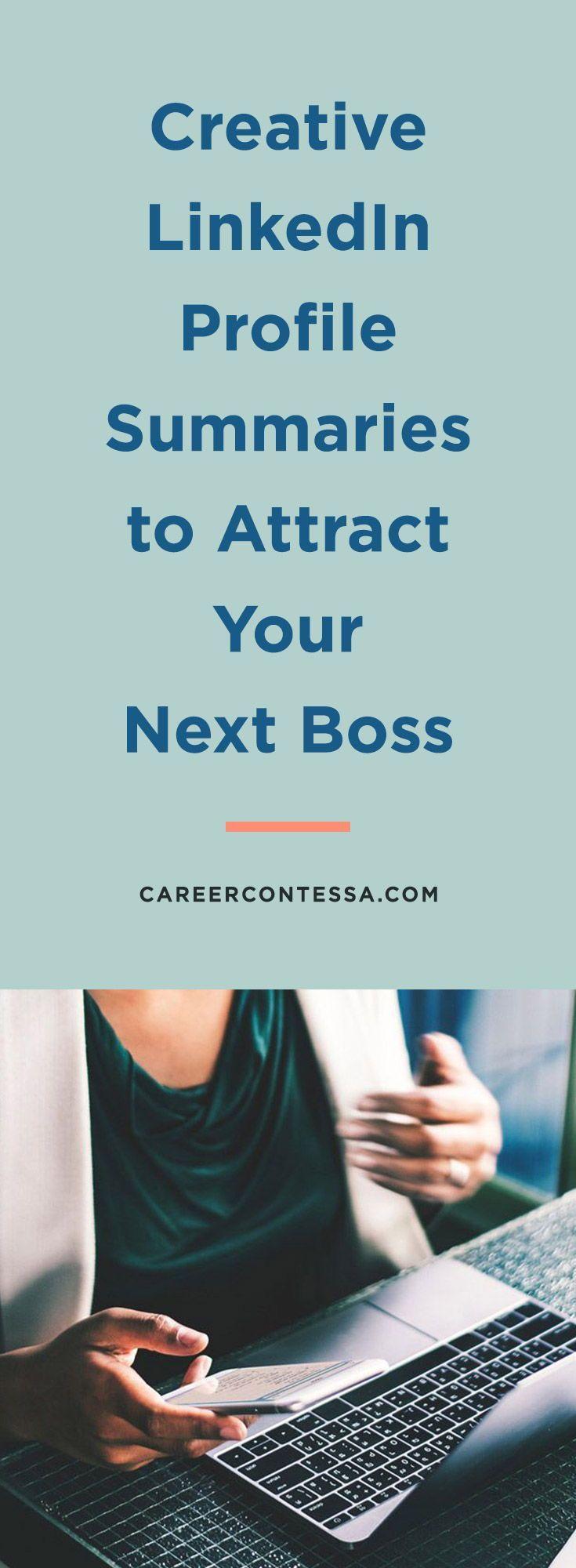 Creative LinkedIn Profile Summaries to Attract Your Next Boss   Career Contessa