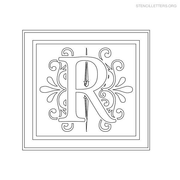 Stencil Letter Decorative R diy Pinterest Stencil lettering