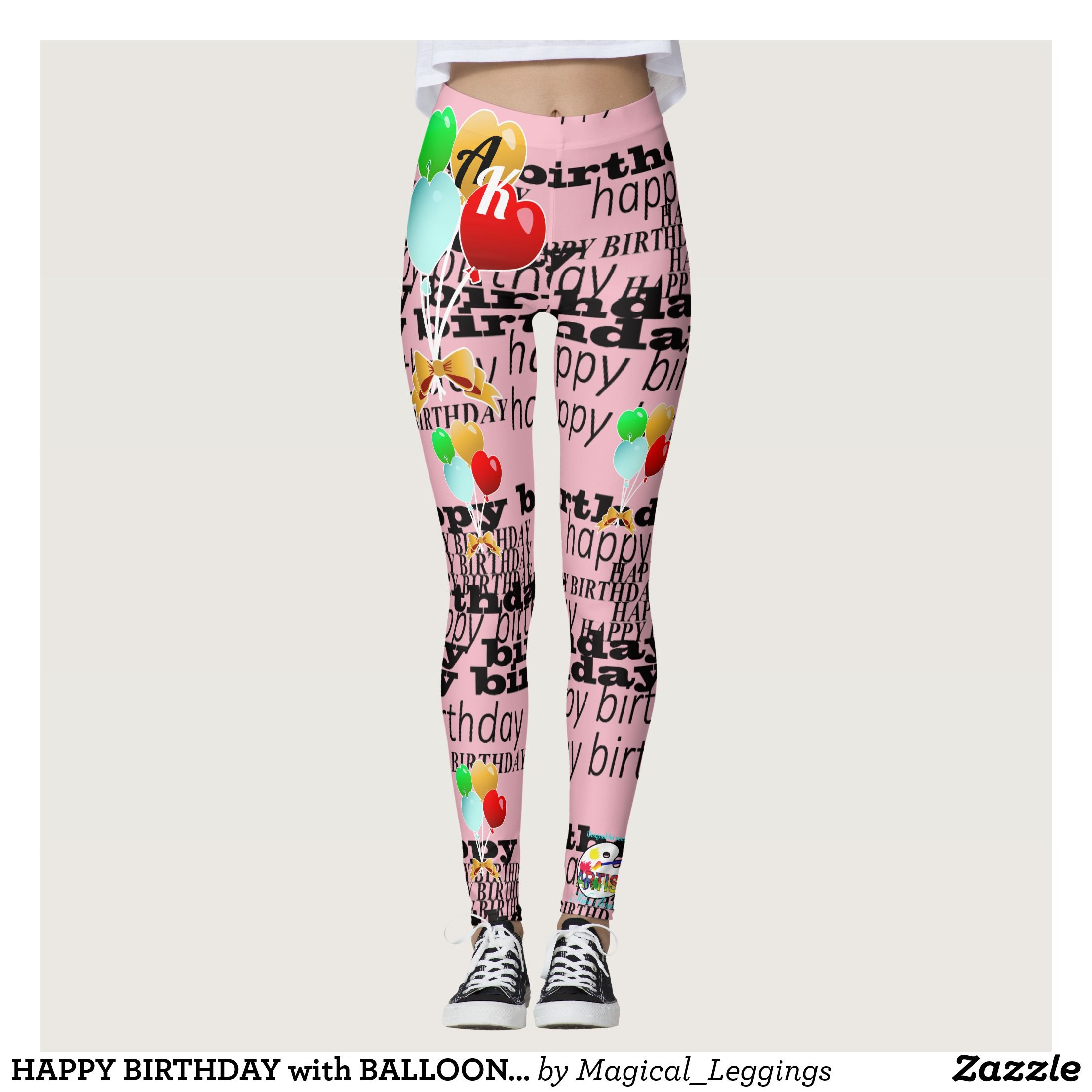 6ab42a8df1 HAPPY BIRTHDAY with BALLOONS Leggings : Beautiful #Yoga Pants - #Exercise Leggings  and #