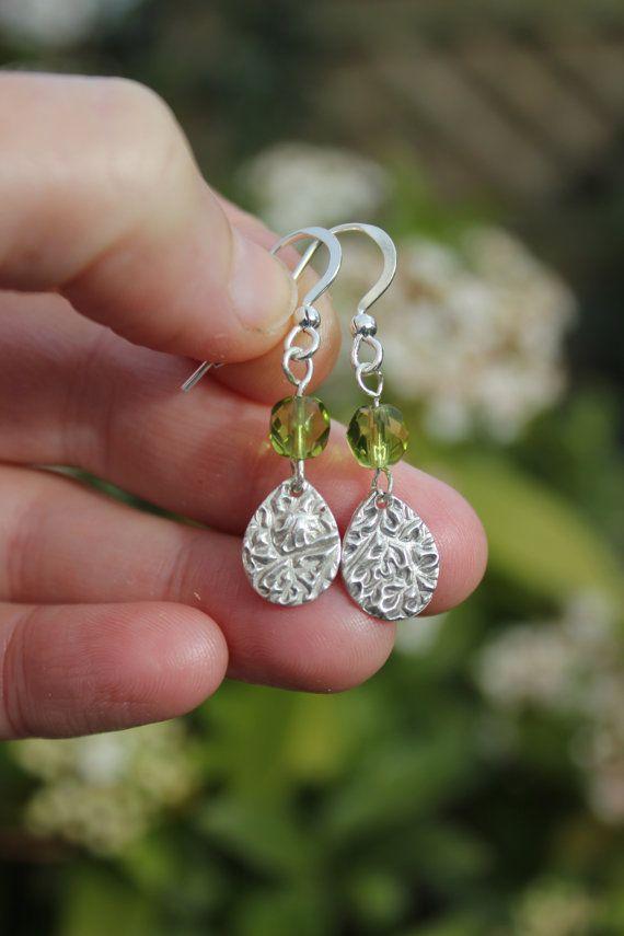 Silver teardrop earrings drop earrings by littlesilverhedgehog