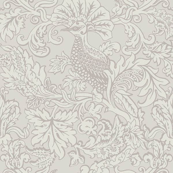 Balabina Wallpaper An Impressive Wallpaper With A Large Scale Damask Design  Featuring Hoopoe Birds, Shown In Chalk And Pale Grey. The Design Was  Originally ...