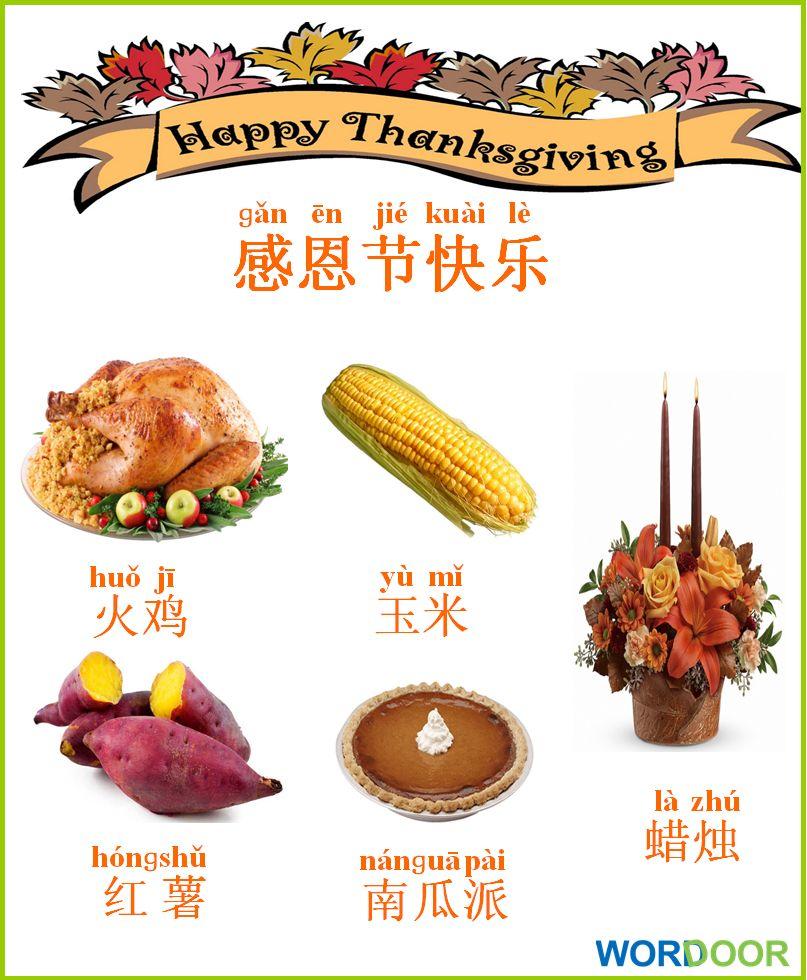 Wordoor Chinese Thanksgiving Words Chinese Mandarin Language Mandarinlanguage Thanksgiving Learn Chinese Basic Chinese Chinese Thanksgiving
