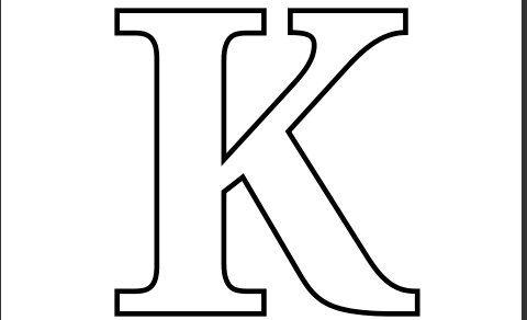 Printable PDF Letter K Coloring Page