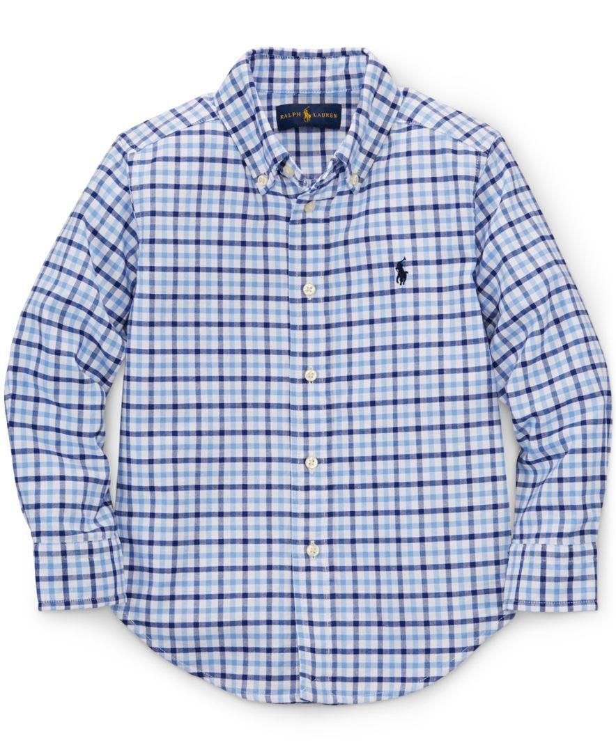 Ralph Lauren Little Boys' Oxford Gingham Shirt