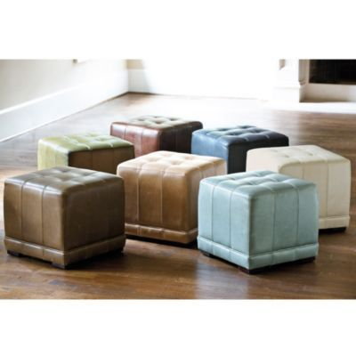 Leather Cube Ottoman | Ballard Designs $249 18\