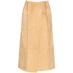 Loewe Pleat-front suede skirt