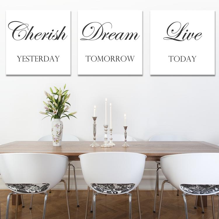 tekst op canvas - cherish dream live   woonkamer teksten   pinterest, Deco ideeën