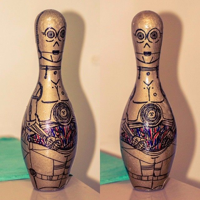 C3PO Bowling Pin DIY  Star Wars Fan Art